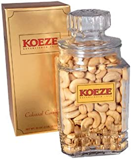Koeze Colossal Cashews - 30 oz. Gift Jar - Roasted and Salted Jumbo Cashews - Perfect for celebrations, birthdays, holidays and more!