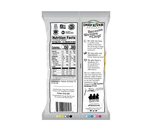 Deep River Snacks Kettle Chips, Original Salted, 2-Ounce Bags (Pack of 24)