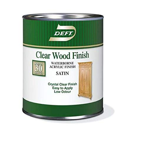 Deft Interior Waterborne Clear Wood Finish Satin, Quart -  Paint Sundries Solutions, 37125109042