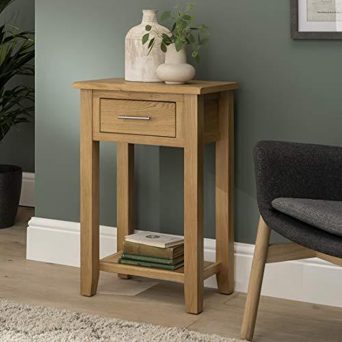 Nebraska Oak - 1 Drawer Console Table With Shelf/Hall Unit/Living Room Furniture