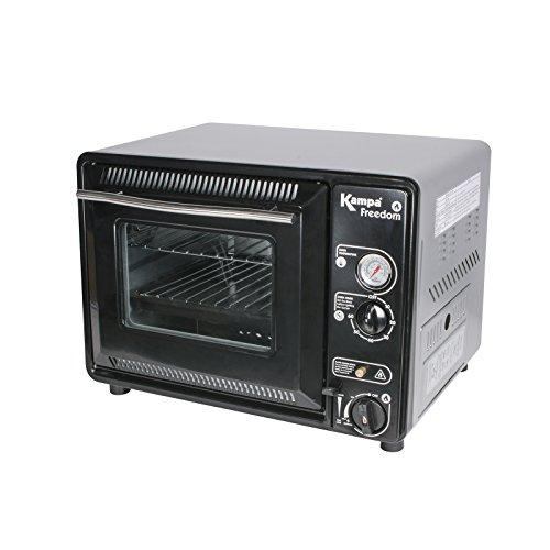 #0107 Kompakter Gas-Ofen 30 Liter mit Backblech und Grill ideal für kleine Küchen • Mini Backofen Pizzablech Miniofen Toaster Camping Gaskocher 30l
