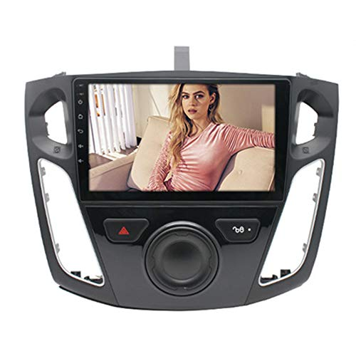 Android Autoradio Radio Double DIN Sat Nav para Ford Focus 2006-2014 Navegación GPS 2.5D Pantalla Táctil Reproductor Multimedia FM Am DVD Video Receiver(Color:WiFi 2G+32G)