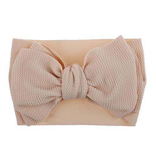 Lazzboy 1 Stück Baby Kleinkind Mädchen Bowknot Stirnband Stretch Haarband Headwear Süßes Kinder Kopfband Haarbänder Kopftuch(B)