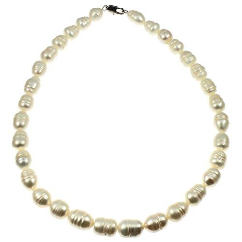 echtem Barock Süßwasser Perle creme Farbton 45cm Collier