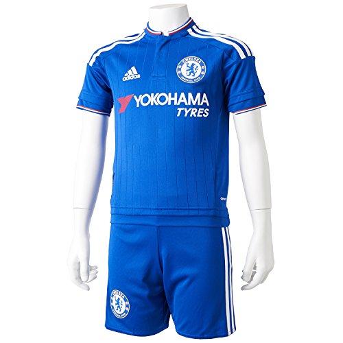 adidas Jungen Bekleidungsset FC Chelsea Heimausrüstung Baby, Blau/Weiß/Rot, 104