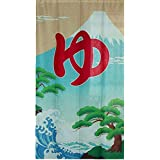 Aothpher 和風 のれん 暖簾 富士山 ゆ 幅85cm×丈150cm ポリエステル 室内インテリア 開運のれん
