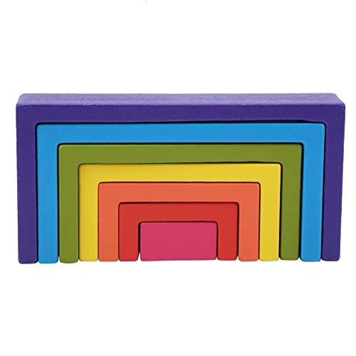 Tomanbery Arch Toy Kid Bauspielzeug Bausteine Lernen Regenbogenhaus Langlebig für Baby(Square Rainbow Building Blocks)