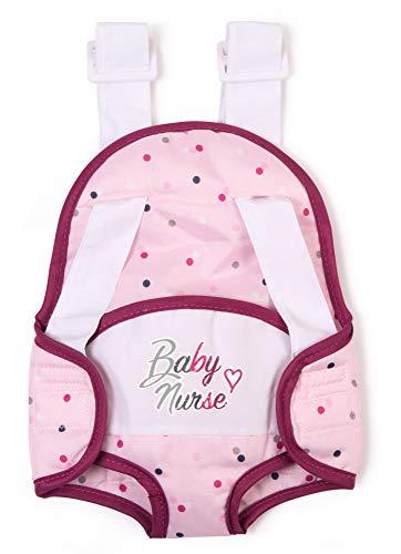 Smoby portabebés Baby Nurse Mochila para Portar Muñecos Bebé, Color Rosa, Talla Única (220351)