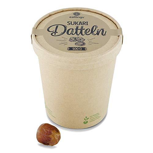 eatlings Dattelbox - Bio Sukari Datteln (500g) - Premium extra zart aus Al-Quasim