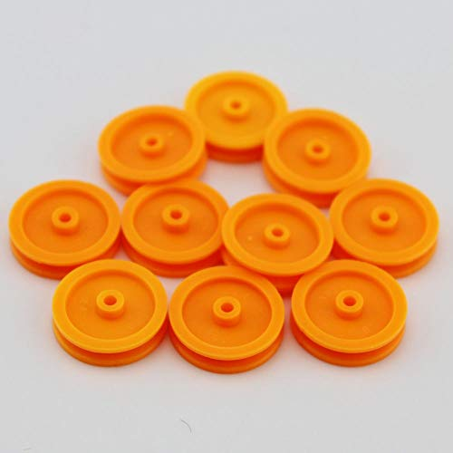 5pcs 25*3.5*2.4mm Pulley Plastic Gears travelling block for Robot Part DIY