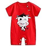 GYDD Baby Onesies Body Algodón Suave Infantil Camiseta Linda Chaleco Niños Y Niñas, 0-24 Meses cow-80