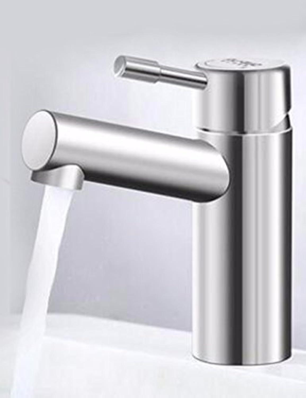 LHbox Bad Armatur in Bad für Waschbecken Waschtisch Wasserhahn Waschtischarmatur Bleifrei 304 Edelstahl Waschbecken mit kaltem Wasser aus der Wanne Waschbecken Tippen, Austausch der Hhne