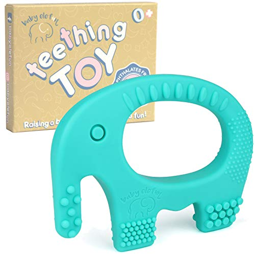 Baby Teething Toys  BPA Free Silicone  Cute Easy to Hold Soft and Highly Effective Elephant Teether  Teethers Toy Best for Freezer Little Boys and Girls 06 612 Months Babies Shower Gifts
