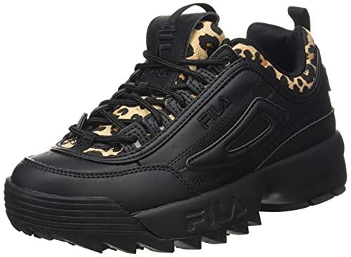 FILA Disruptor A wmn Sneaker Donna, Nero (Black/Leopard), 41 EU