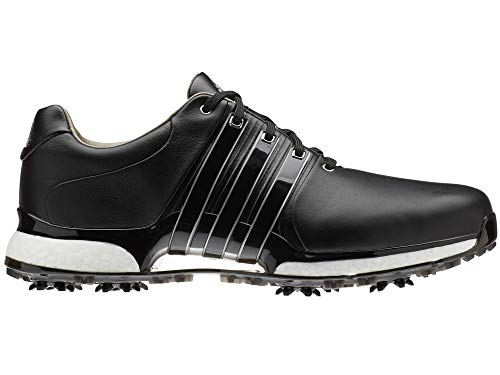 adidas Herren Tour360 Xt(Wide) Golfschuhe, Schwarz (Plata/Negro Bd7127), 43 1/3 EU