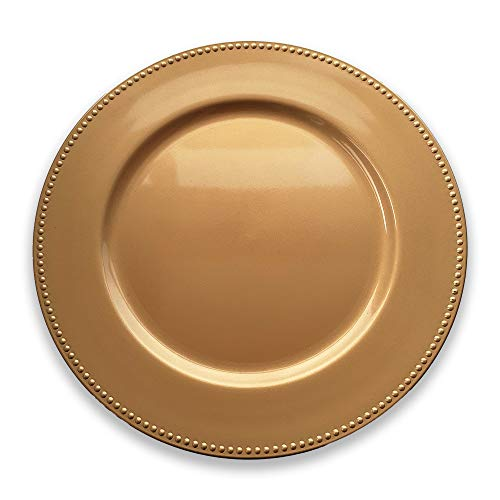Schone Products (UK) Golden Dining Charger Plate – Luxury Touch to your Christmas Table – THE SPIRIT OF XMAS