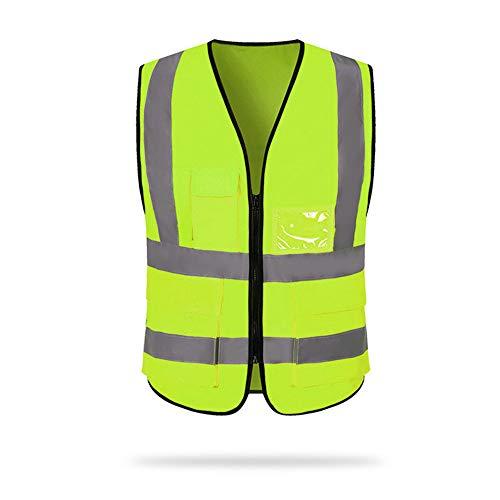 Festnight reflecterende veiligheidsvesten met zakken en ritssluiting. Bouwwerk vest heren en dames groen