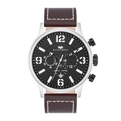 Rhodenwald & Söhne Reloj para Hombre análoga Japón Mecanismo de Cuarzo con Correa de Cuero Real 10010320