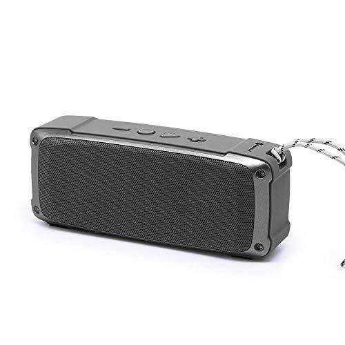 XIXV Portátil de Mano Mini Colgante al Aire Libre Altura Potencia batería de Litio Incorporado inalámbrico Bluetooth estéreo Bluetooth Altavoces Boombox (Color : Gray, Size : 19.5 * 8 * 6cm)