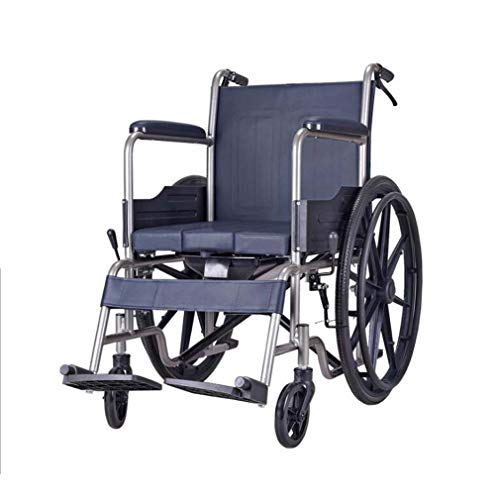 DMQNA Heavy Duty Bariatric Folding Wheelchair,Lightweight Aluminium Folding Self Prope Wheelchair,with Handbrakes and Quick Release Rear Wheels