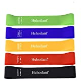 Hehoilam Resistance Loop Bands, Resistance Exercise Bands for Home Fitness, Stretching, Strength Training, Physical Therapy, Natural Latex Workout Bands, 5 Colors Pilates Flexbands