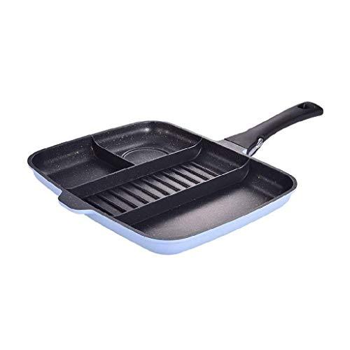 Wok con tapa, wok para panqueque huevo olla asador carne asador asador asador pan olor olla frying sartén, estufa de inducción de gas