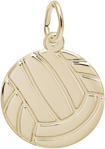 Rembrandt Volleyball Charm - Metal - 14K Yellow Gold