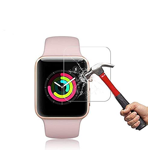 Apple Watch 42mm Tempered Glass Screen Protector (42mm Series 3/2/1) [3 Pack] [Anti-Scratch][Anti-Fingerprint][High Definition] Screen Protector Compatible Apple Watch 42mm
