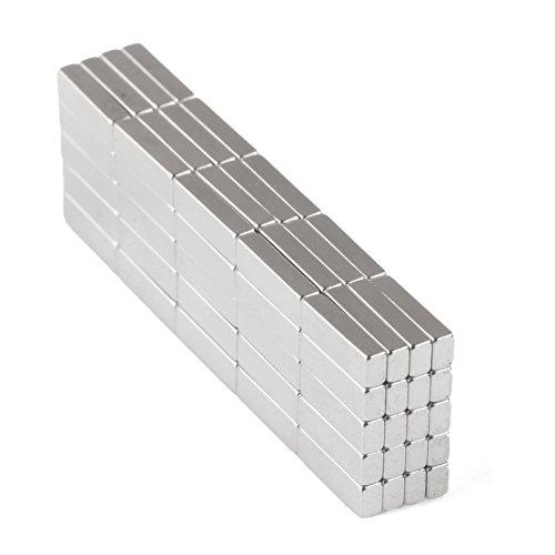 100 stuks magneten neodymium N35 vierkante dobbelstenen Forte coating NIET voor het maken van plafonds, LED gepersonaliseerd, verlichting 10 * 3 * 2mm