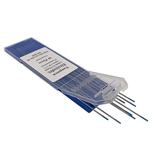 VILLCASE - 10 varillas de tungsteno de lantano 1,5% WL15 par