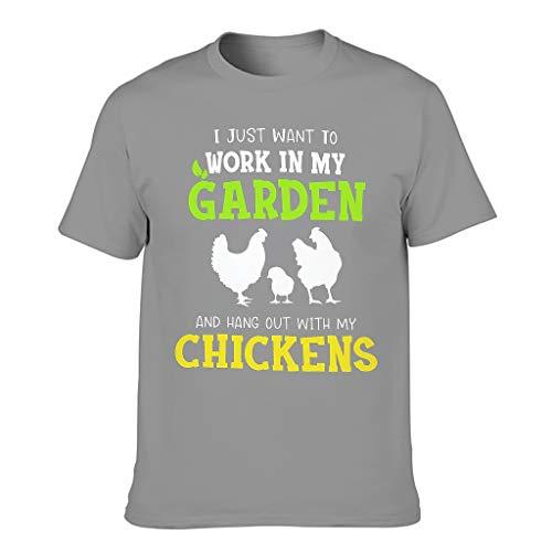 Camiseta de verano para hombre, divertida labor en mi jardín, Hang Out con impresión de gallinas, acogedora y activa.