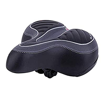 Syhonic Comfort Bike Seat for Men/Women - Wide Big Bum Bicycle Gel Cruiser Extra Comfort Sporty Soft Pad Saddle Seat,Most Comfortable Replacement Bicycle Saddle Fit for Exercise Bike & Outdoor Bike