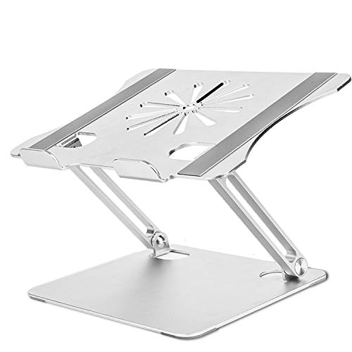 Laptop Stand, HengLiSam Ergonomic Adjustable Laptop Stand Riser Portable with Heat-Vent, Laptop Holder Compatible for MacBook Air Pro, Dell, HP, Lenovo More 10-17' Laptops (Silver)