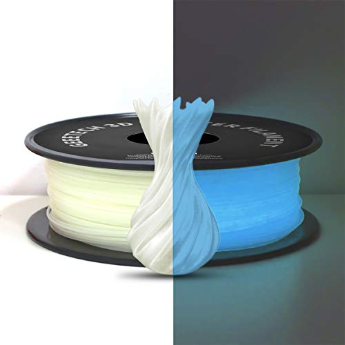 PLA Filament 1.75mm, Glows Blau in the Dark, GEEETECH 3D Drucker Filament 1kg Spool