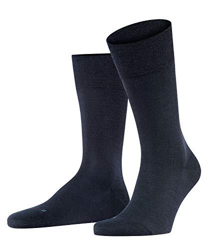 FALKE Herren Socken Sensitive Berlin, Merinowolle Baumwolle, 1 Paar, Blau (Dark Navy 6370), 39-42 (UK 5.5-8 Ι US 6.5-9)