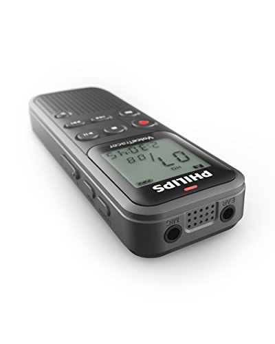 Philips DVT1110 Digital VoiceTracer Audio Recorder, Digital Notes recording, 4 GB, PC connection, grey