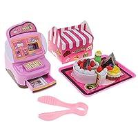 8色選択 食品モデル キャッシュレジスター 玩具セット 子ども お店屋さん ままごと ごっこ遊び - ケーキ屋