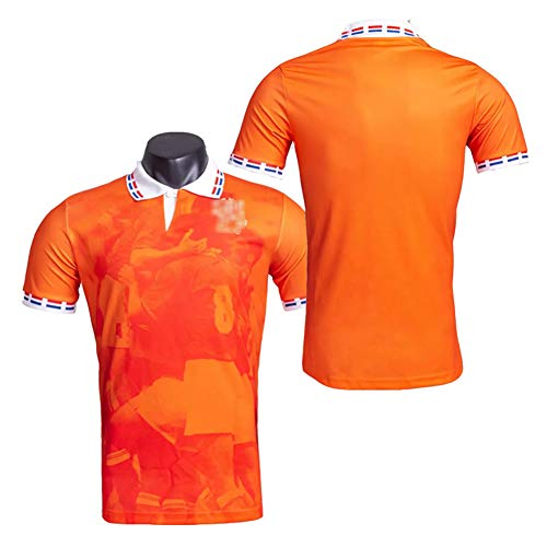 Jahrgang 1996 Niederländisches Trikot Europapokal Nr. 9 Kluivert Nr. 10 Bergkamp Alte Fußballuniform, Fans Fußballtrikot T-Shirt-M