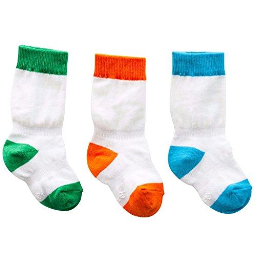 Image of Cheski Baby Boys Knee Socks Stay Put on Baby's Kicking Legs 0-6 months ~ 3 Pair
