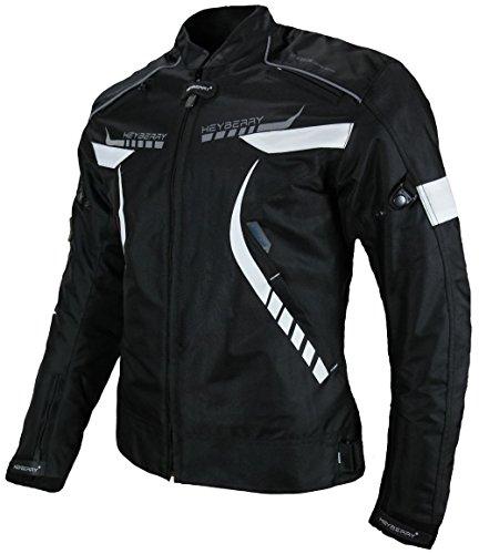 Heyberry Damen Motorradjacke Textil Schwarz Weiß Gr. M / 38