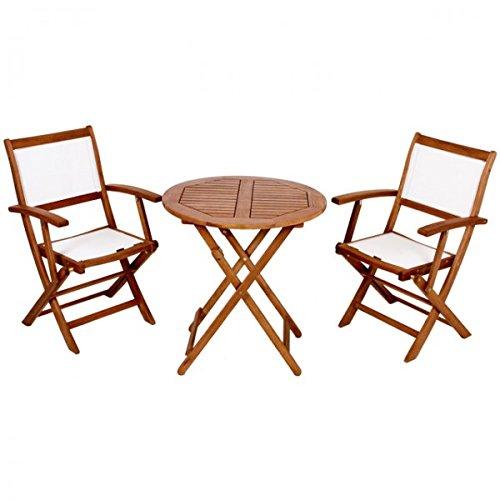 Unbekannt 3tlg Sitzgruppe PANAMA Balkonmöbel Gartenmöbel klappbar Garnitur geölt Holz