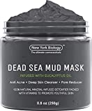 New York Biology Dead Sea Mud Mask for Face and Body Infused with Eucalyptus- Spa Quality Pore Reducer for Acne, Blackheads and Oily Skin - Tightens Skin for A Healthier Complexion - 8.8 oz…