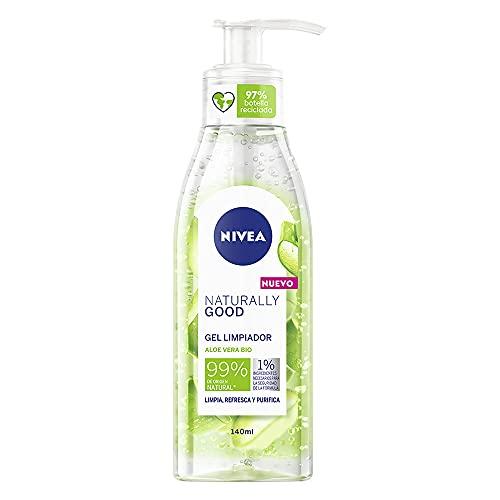 NIVEA Naturally Good Micellar Face Wash with Organic Aloe Vera, 140 ml