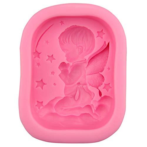 R-WEICHONG Moule à savon en silicone pour décoration de gâteau Motif ange