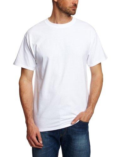 Hanes Herren T-Shirts  USA Beefy-T Schlichte Ausführung, Crew  - Weiß - Weiß - xl (Herstellergröße: X-Large)