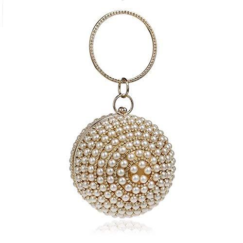 necklace Collar de Moda para Mujer Bolso de la Manera Europea y Americana Noche Bolsa de Banquetes esférica Noble 25,5 * 12,5 CM * 9 CM Izar