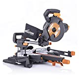 Evolution Power Tools R210SMS-300+ Sliding Mitre Saw with Multi-Material Cutting, 45 Degree Bevel