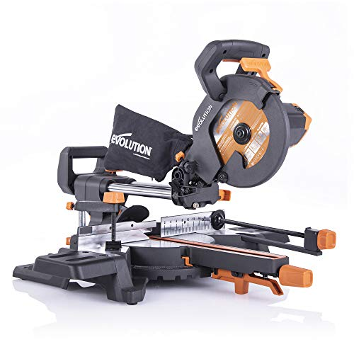 Evolution Power Tools R210SMS-300+ Sliding Mitre Saw with Multi-Material...