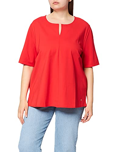 Samoon T-Shirt 1/2 Arm, Rosso-Power Red, 54 Donna