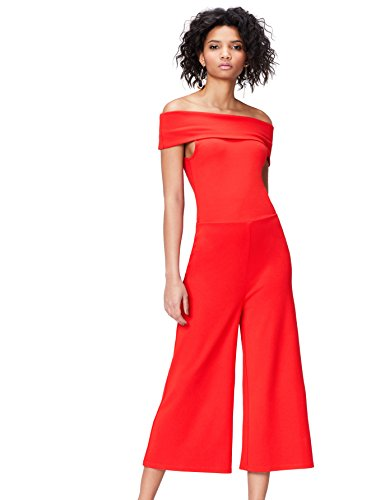 Amazon-Marke: find. Damen Jumpsuit 16812a, Rot (Racing Red), 36, Label: S